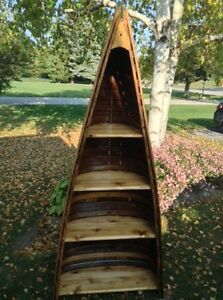 Antique canoe shelf