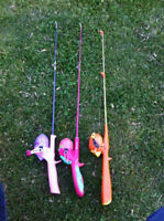 For sale 3 kids fishing rod $40 for all three of them