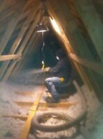 ATTIC INSULATION & SPRAY ON WATER PROOFING / AIR SEALING