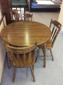 Wood Table and 6 Solid Wood Chairs