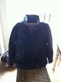 Men's real leather black jacket, nearly new.