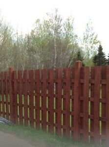 WOOD FENCE SECTION
