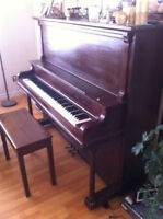 """Up right piano with piano bench """"new price"""""""