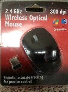 WIRELESS OPTICAL MOUSE with USB Mini Receiver(for WindowsOrMac)-