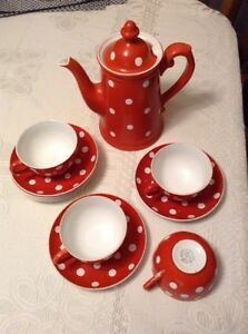 Orange polka dot set