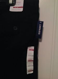 BRAND NEW WITH TAGS -Men's black 100% cotton pants size 34 x 30