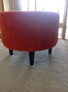 New Modern Burnt Orange Ottoman Corduroy material very chic look