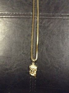 Gold plated Jesus Piece Necklace Kitchener / Waterloo Kitchener Area image 2
