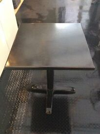 7 BLACK TABLES FOR SALE