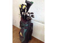 GOLF CLUB SET IN LOVELY CONDITION. TOP QUALITY TAYLOR MADE, COBRA, CLEVELAND