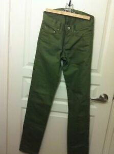 "FREE Skinny Guy Leaf (""Weird Guy"") 12 oz. Chinos! Size 28 waist"