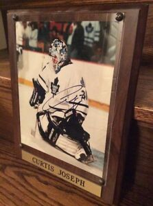 (framed) Curtis Joseph Autographed Picture - Legends of the Game