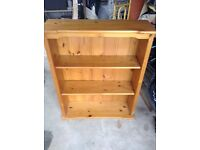 Solid pine bookcase x 1