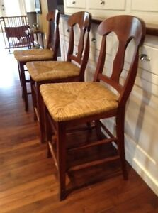 Cherry stained counter height stools $100 for all 4.