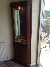 Glass fronted Corner display cabinet