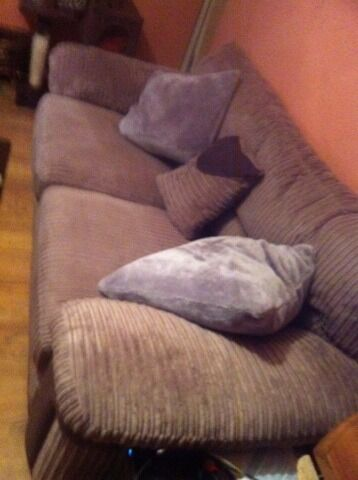 Good condition, cozy two and one seater sofa, smoke free home.