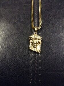 Gold plated Jesus Piece Necklace Kitchener / Waterloo Kitchener Area image 1
