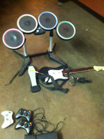 Xbox 360 Guitar, Drums, Microphone (Guitar Hero / Rock Band)