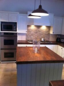 Solid reclaimed wood kitchen/bar/island or bathroom countertops