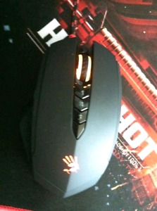 Bloody Headshot gaming mouse and mousepad