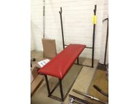 Red Flat Bench