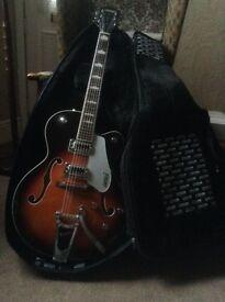 Semi accoustic electric guitar