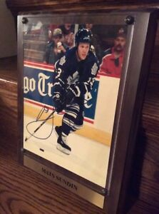 (framed) Mats Sundin Autographed Picture - Legends of the Game