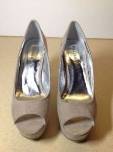 **NEW IN BOX** Madden Girl taupe open toe platform / wedges Cambridge Kitchener Area image 4