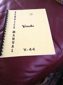Vendo V-44 Service Manual Kawartha Lakes Peterborough Area image 1