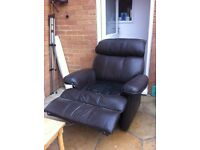 Leather recliner chair lazy boy style chair
