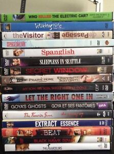 Various DVD & Bluray Movies. VG condition.
