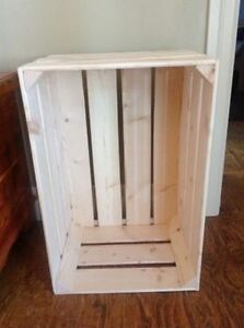 Solid wooden crates