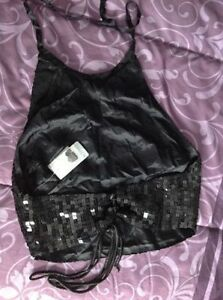 **NEW** with tags Le Chateau black sequence halter top Cambridge Kitchener Area image 3