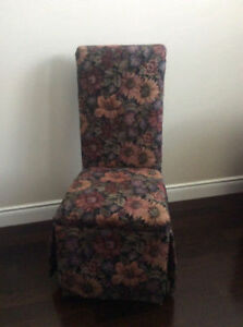 6 Dining Parsons Chairs for sale