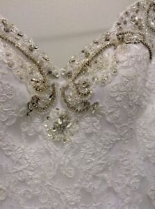 Val Stefani White Wedding Dress