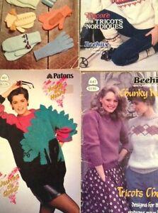 5 knitting pattern books London Ontario image 5