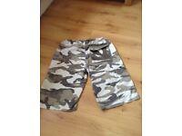 Bench camo cargo shorts size 32W