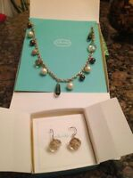 Stella and Dot Deco Necklace and Earring Set - Brand NEW