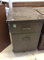 vintage filing cabinet on wheels