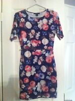 FOREVER 21 Floral Dress with Zipper Waist