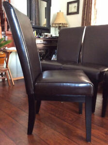 BNIB!! Brand New, Unused Dining Leather parson's chair $75/Chair