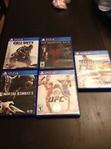 5 PS4 Games up for sale