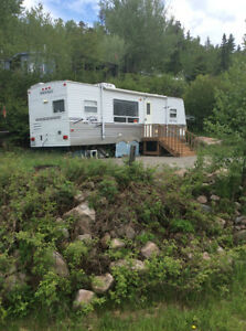 Camper Trailer on Permanent Site Thunder Bay Sandstone Lake