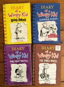 DIARY OF A WIMPY KID books 4 for $15