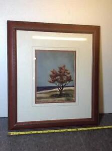 2 x double matted v-groove tree prints Cambridge Kitchener Area image 2
