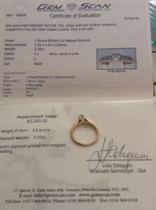 Engagement ring with heart shaped accents Sarnia Sarnia Area image 2