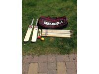 Cricket bat set with Gray Nicolls bag