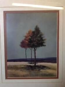2 x double matted v-groove tree prints Cambridge Kitchener Area image 5