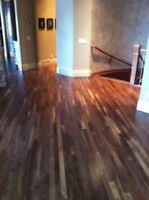 HIGH QUALITY refinish install repair hardwood floor DUSTLESS