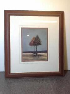 2 x double matted v-groove tree prints Cambridge Kitchener Area image 3